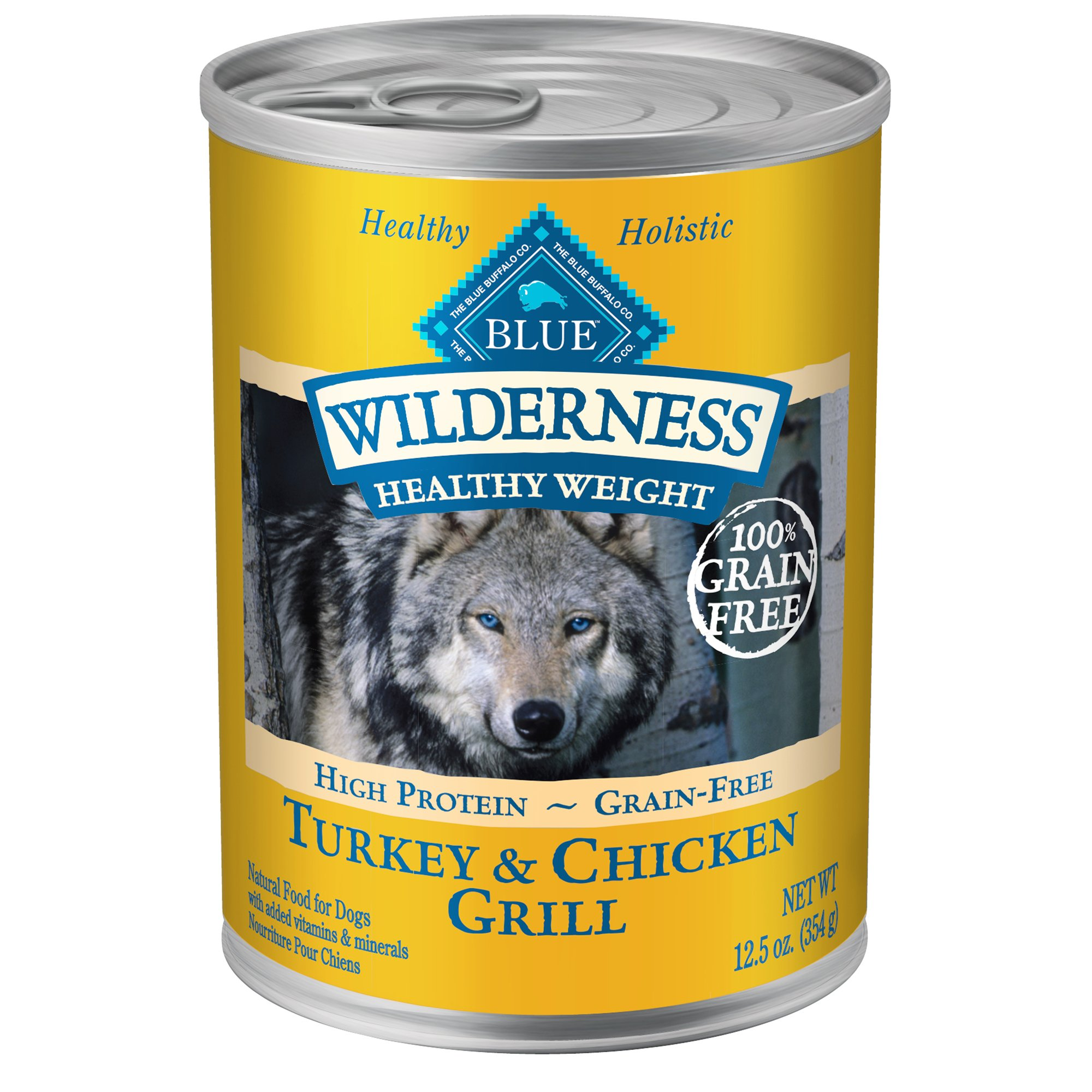 Blue Buffalo Wilderness Adult Healthy Weight Turkey and Chicken Canned Dog Food