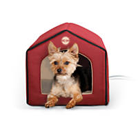 K&H Red and Tan Indoor Thermo Pet House
