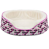 Dallas Manufacturing Purple Oval Orthopedic Dog Bed