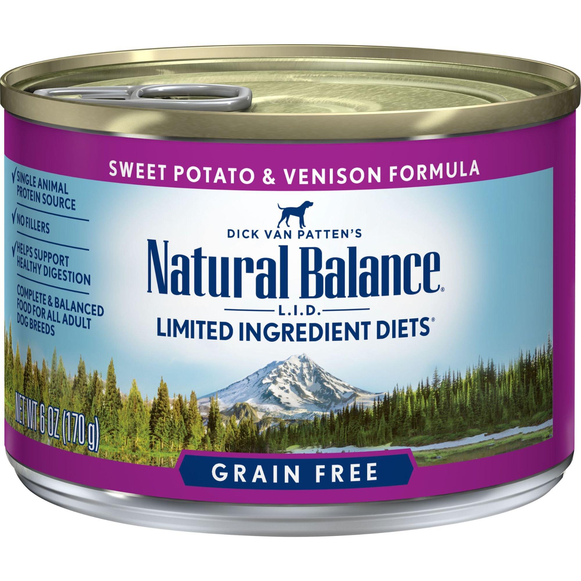 Natural Balance Limited Ingredient Diets Venison & Sweet Potato Formula Canned Dog Food