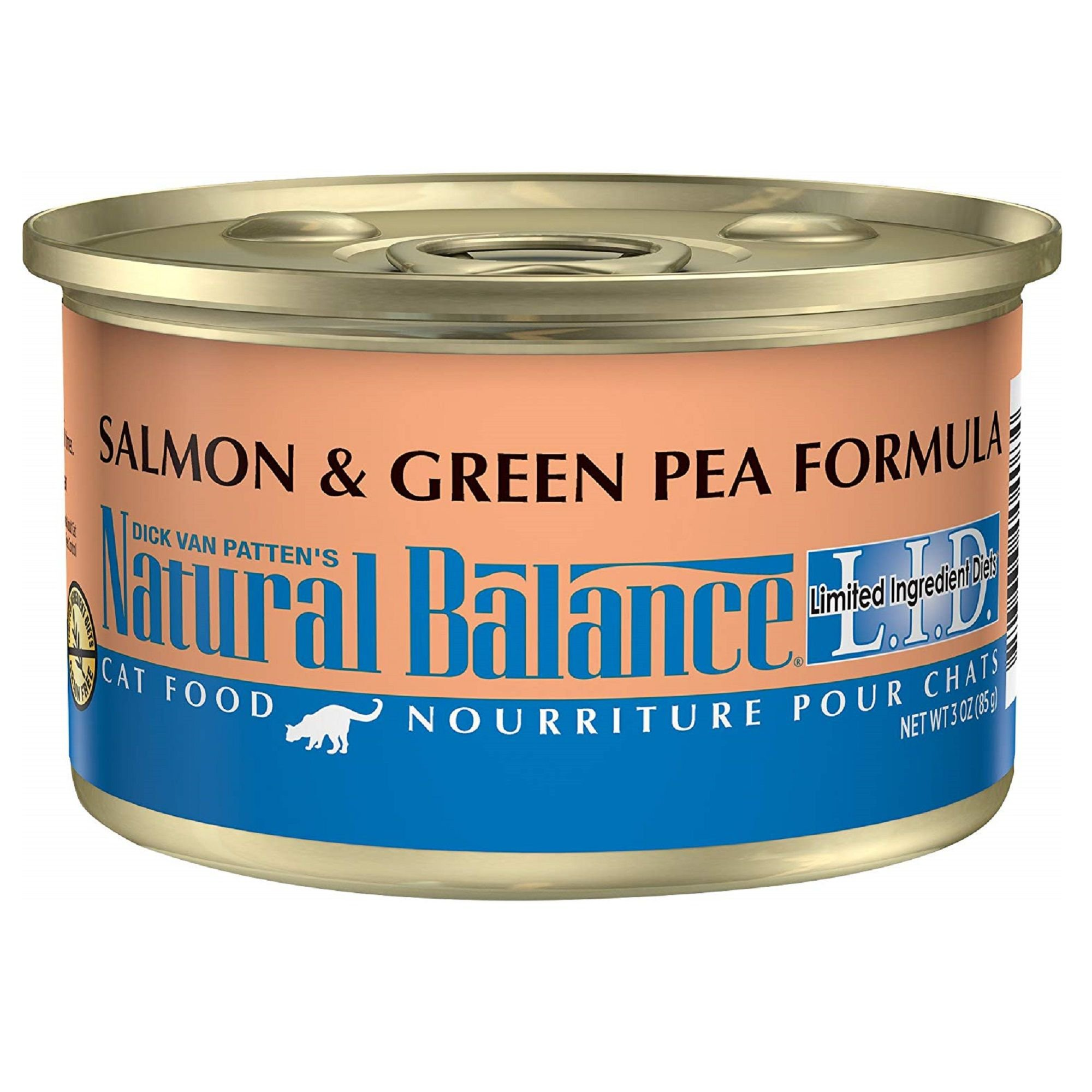 Natural Balance L.I.D. Salmon & Green Pea Formula Canned Cat Food