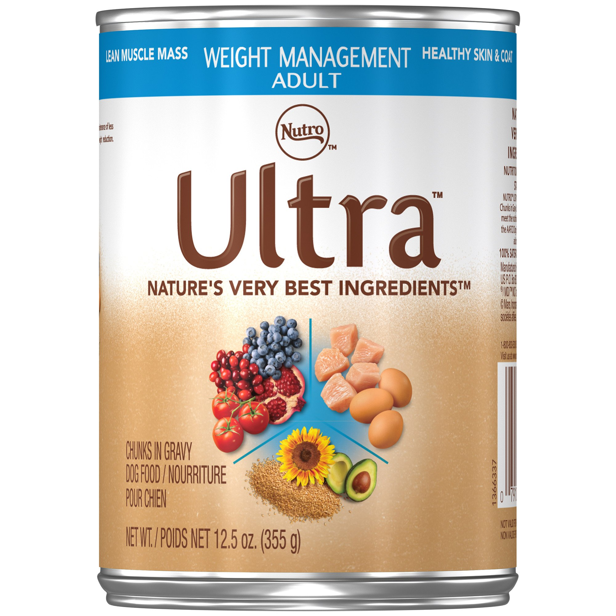 Nutro Ultra Weight Management Chunks in Gravy Adult Canned Dog Food