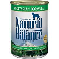 Natural Balance Ultra Premium Vegetarian Formula Canned Dog Food