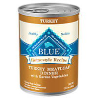 Blue Buffalo Homestyle Recipe Turkey Meatloaf Dinner Canned Dog Food