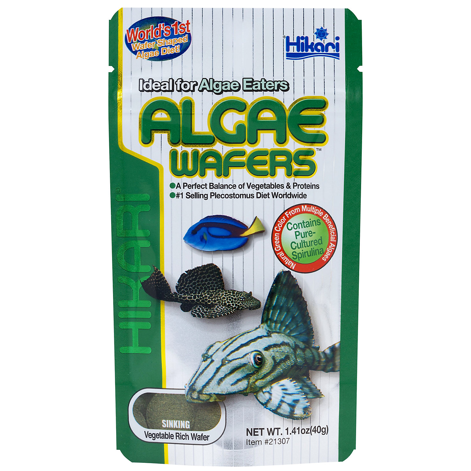 Hikari Tropical Algae Wafers For Plecostomus Algae Eaters 1.41 Ounces