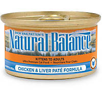 Natural Balance Ultra Premium Canned Cat Food Chicken & Liver Pate Formula