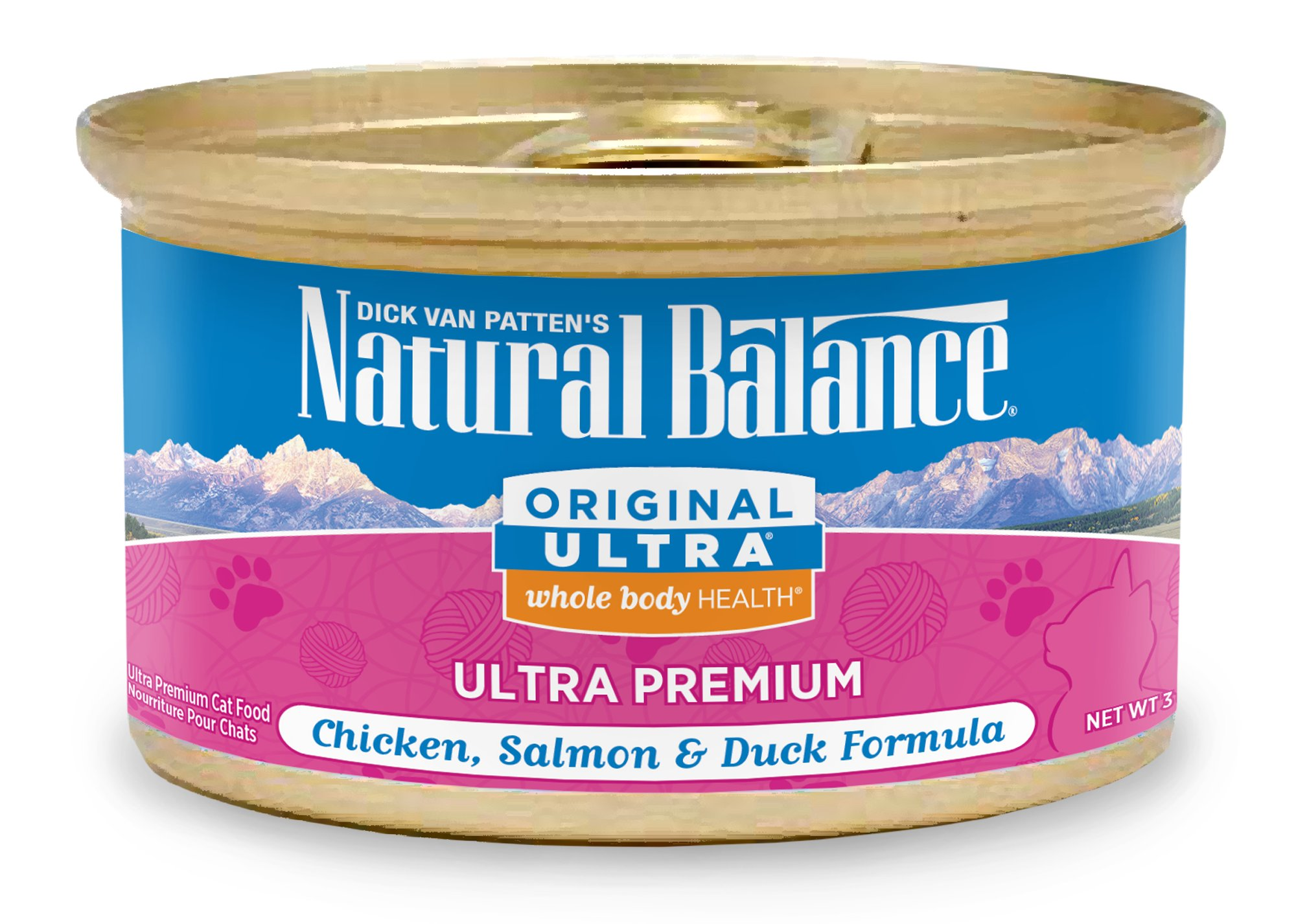 Natural Balance Ultra Premium Canned Cat Food, Chicken, Liver, Duck & Salmon