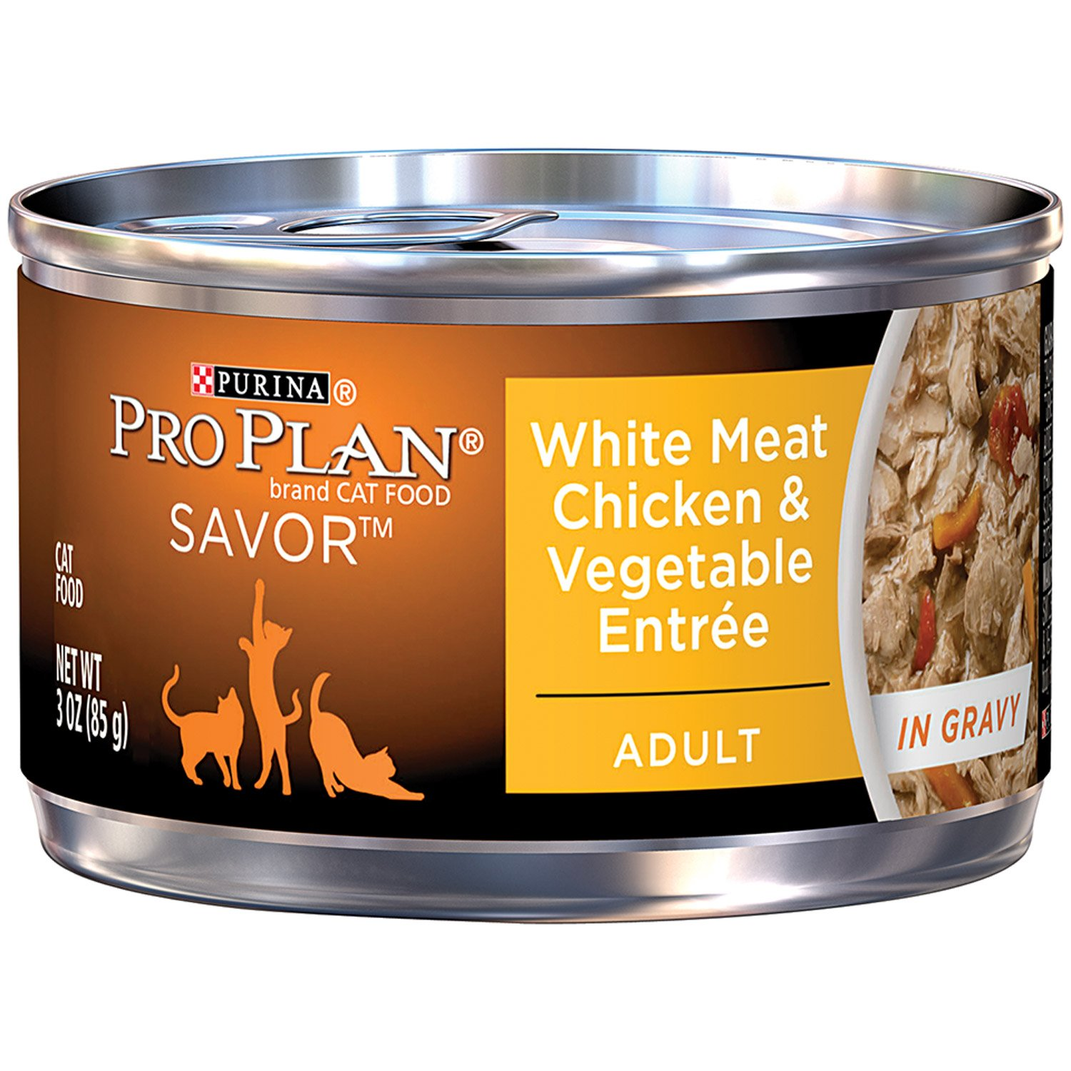 Pro Plan Savor White Meat Chicken & Vegetable Adult Canned Cat Food in Gravy