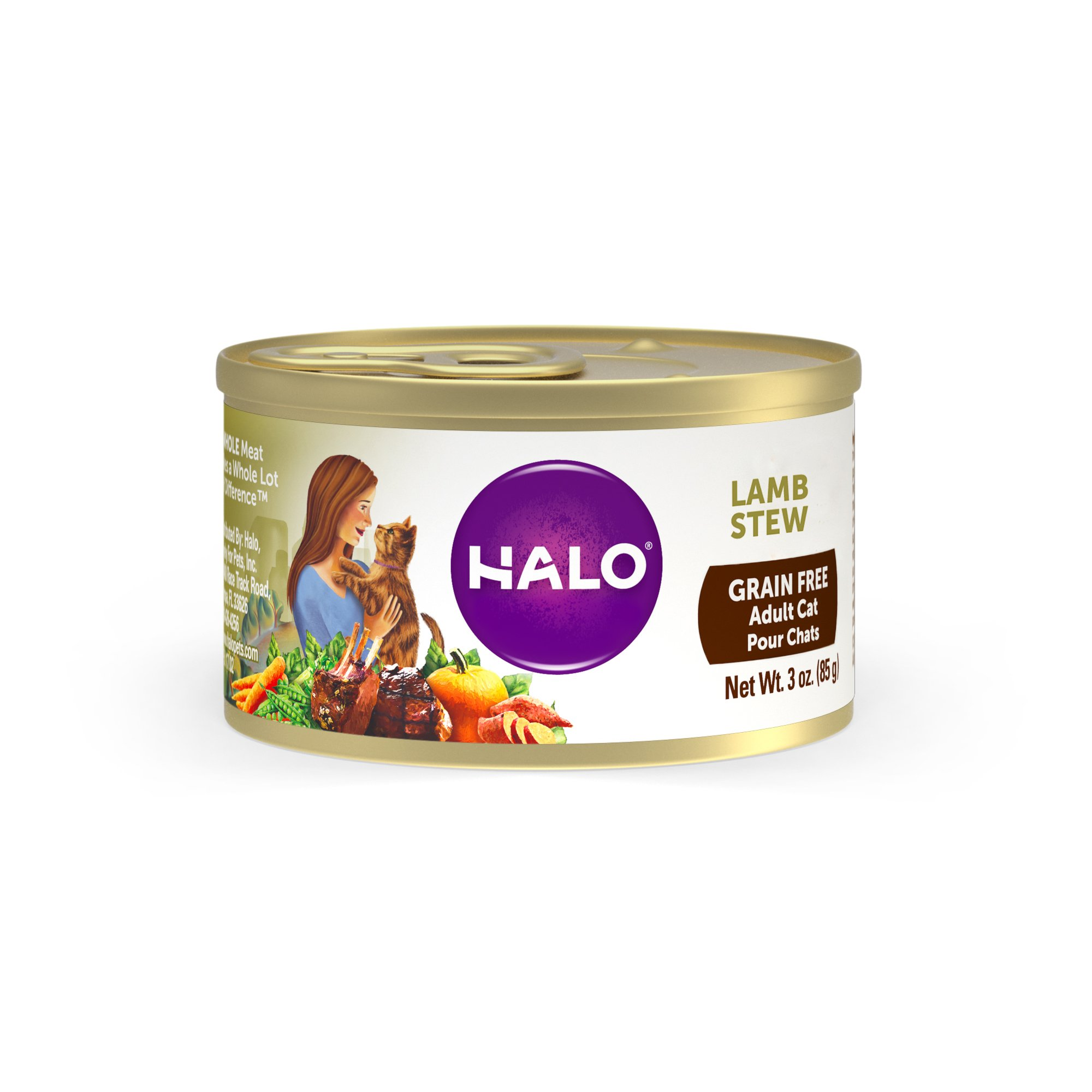 Halo Spot's Stew Wholesome Lamb Recipe Canned Cat Food