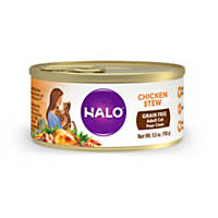 Halo Spot's Stew Wholesome Chicken Recipe Canned Cat Food