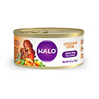 Halo Spot's Stew Wholesome Chicken Recipe Canned Dog Food