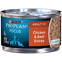 Pro Plan Focus Entrees Adult 11+ Canned Cat Food, Chicken & Beef