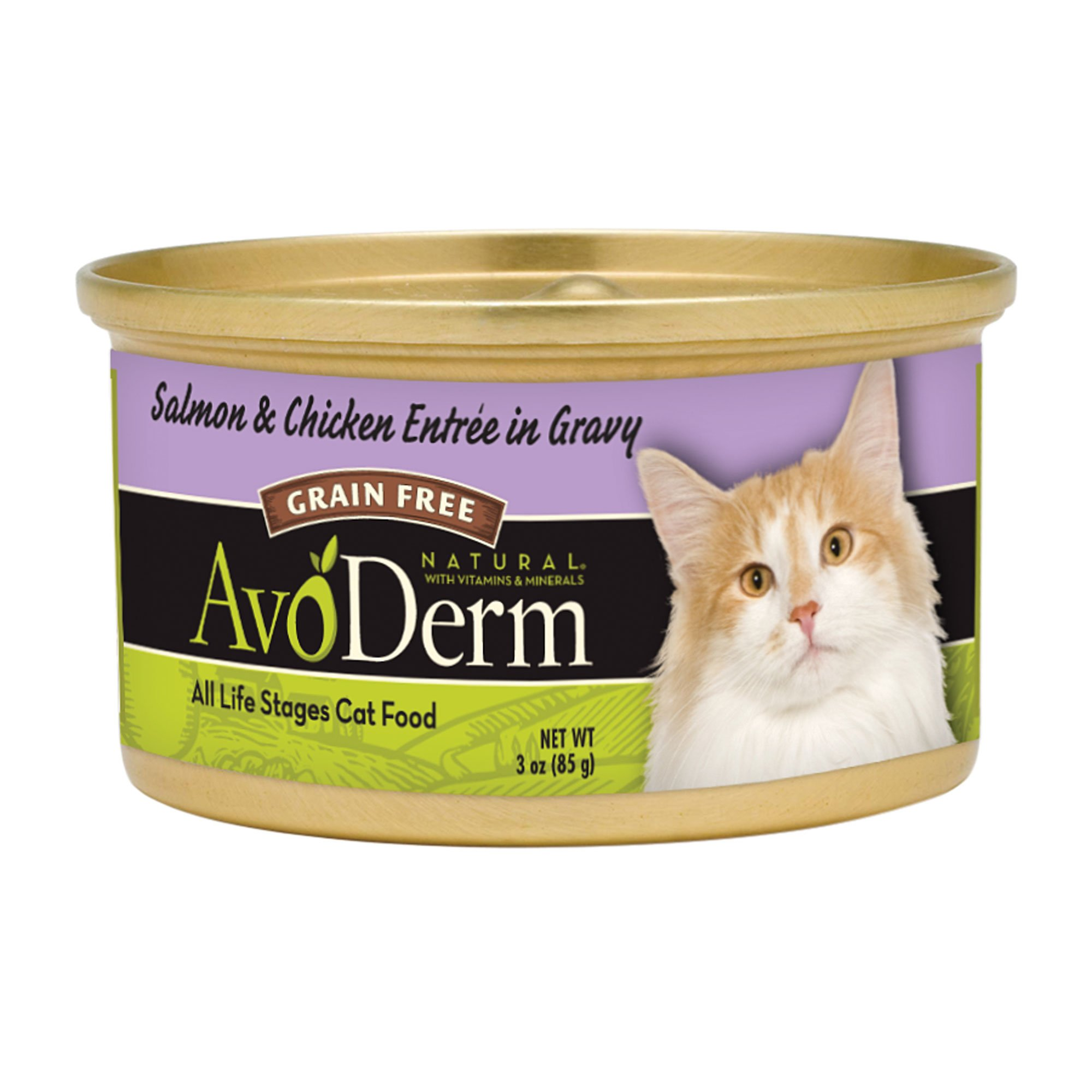 AvoDerm Salmon & Chicken Entr?in Gravy Canned Cat Food