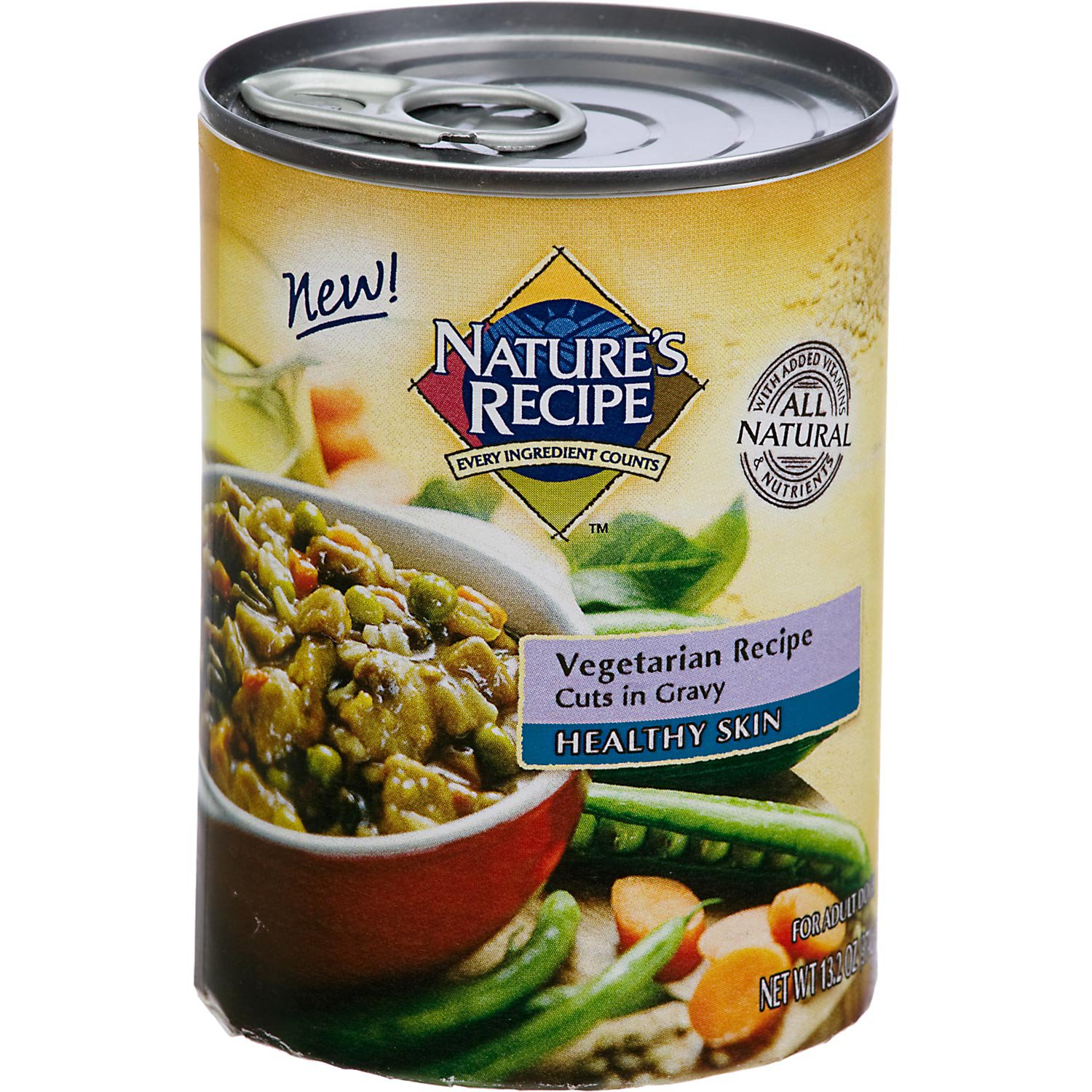 Nature's Recipe Healthy Skin & Coat Vegetarian Cuts in Gravy Adult Canned Dog Food