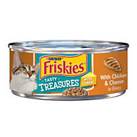 Friskies Tasty Treasures Chicken & Cheese In Gravy Canned Cat Food