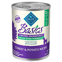 Blue Buffalo Basics LID & Grain Free Turkey & Potato Adult Canned Dog Food