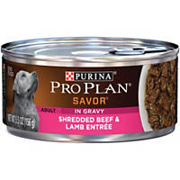 Pro Plan Savor Shredded Entrees Adult Canned Dog Food, Beef & Lamb