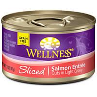 Wellness Sliced Cuts Adult Canned Cat Food, Salmon