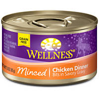 Wellness Minced Cuts Adult Canned Cat Food, Chicken