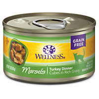 Wellness Cubed Cuts Adult Canned Cat Food, Turkey