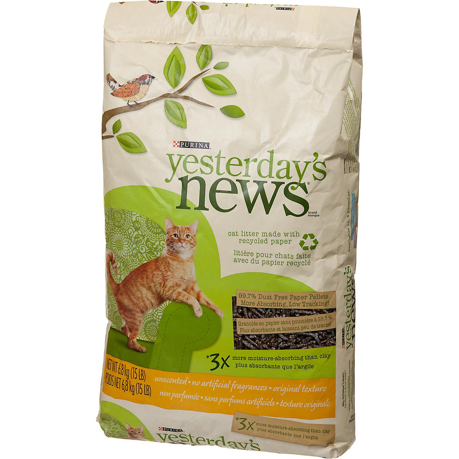 Paper Pellet Unscented Cat Litter