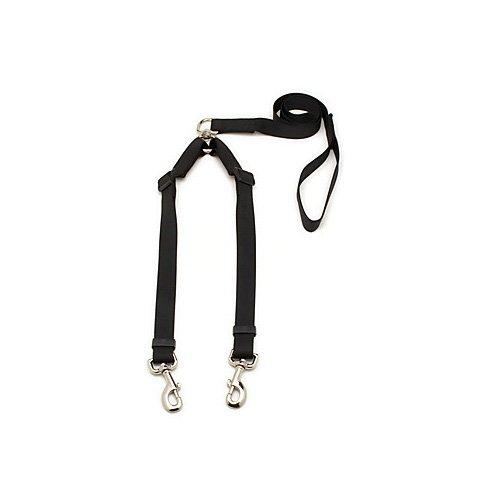 """Aspen Pet by Petmate Take Two Adjustable Leash in Black, 1"""" Width"""