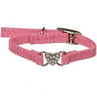 Coastal Pet Li'l Pals Suede Heart Collar in Pink