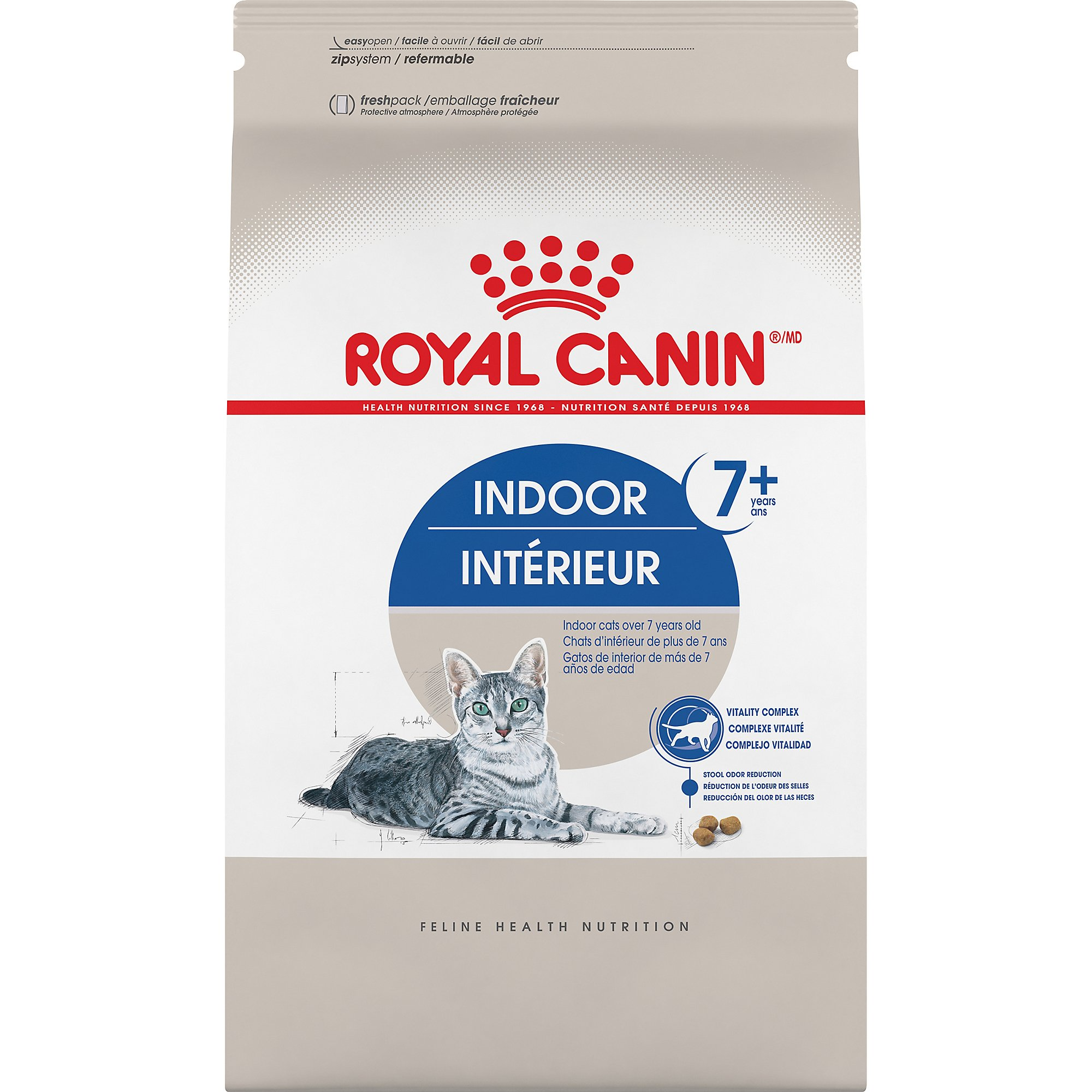 Royal Canin Feline Health Nutrition Indoor 7+ Adult Dry Cat Food