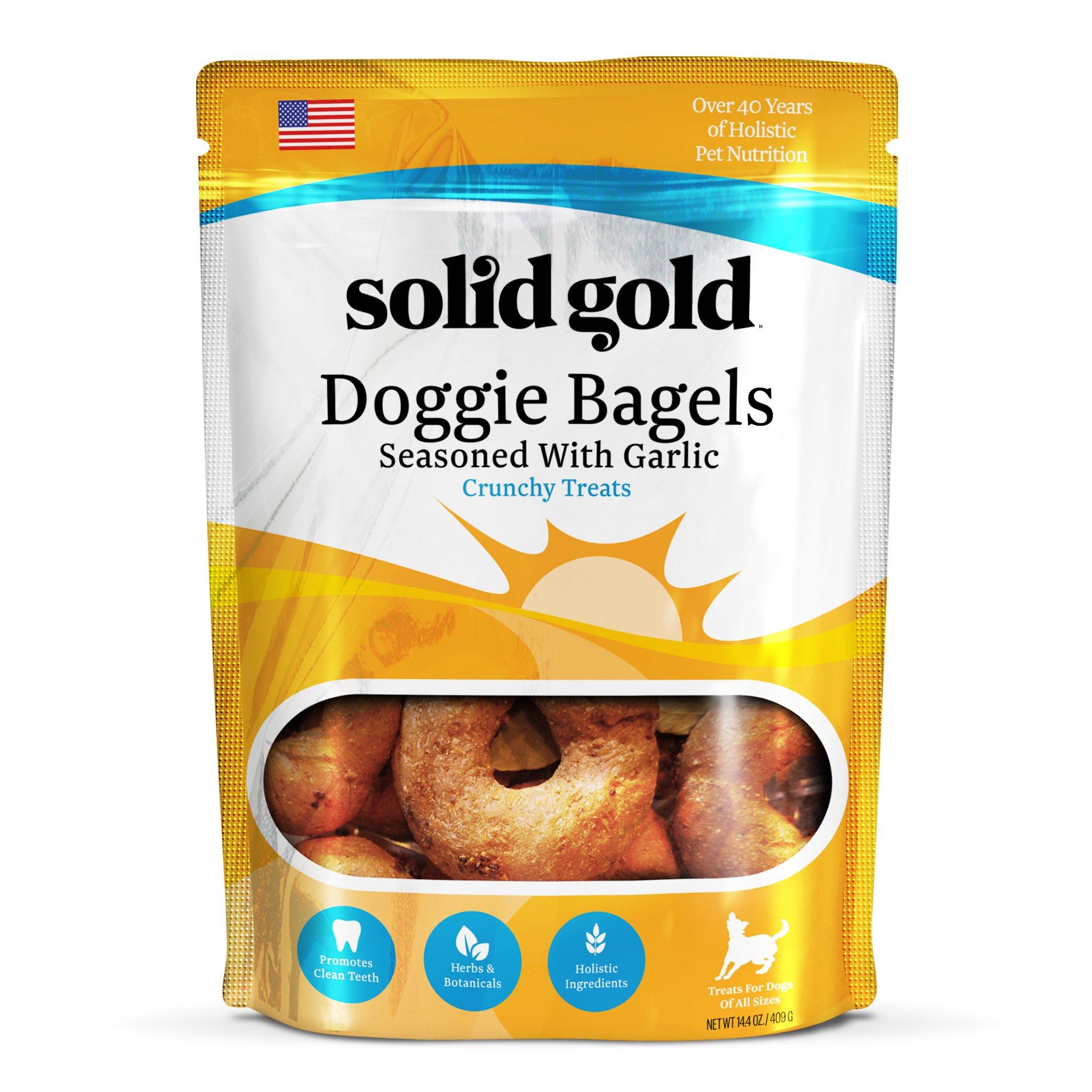 Solid Gold Garlic Doggie Bagels