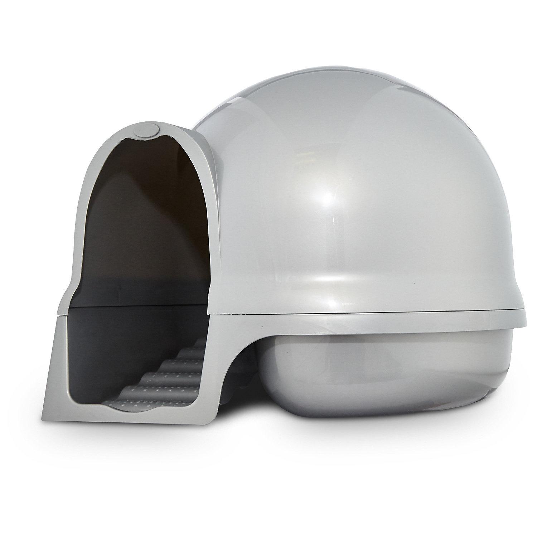 Booda Clean Step Litter Box in Pearl Dove, Silver