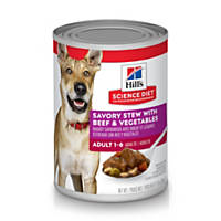 Hill's Science Diet Chunks & Gravy Adult Canned Dog Food, Beef & Vegetable Stew