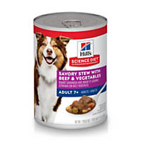 Hill's Science Diet Chunks & Gravy Mature Adult Canned Dog Food, Beef & Vegetable Stew