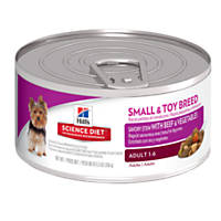 Hill's Science Diet Savory Stew with Beef & Vegetables Small & Toy Adult Canned Dog Food