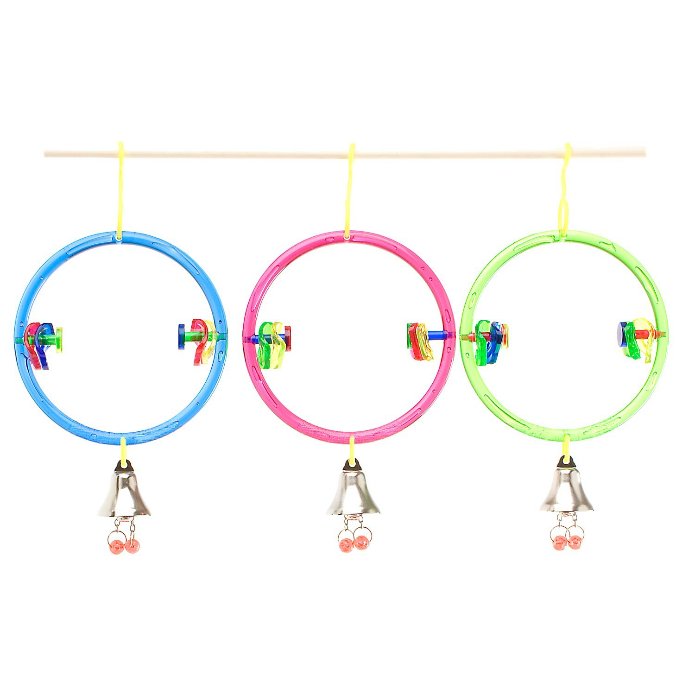 JW Pet Company Insight ActiviToys Ring Clear Bird Toys