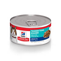 Hill's Science Diet Senior Tender Dinner Adult Canned Cat Food, Tuna