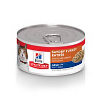 Hills Science Diet Adult 7+ Savory Turkey Entree Canned Cat Food