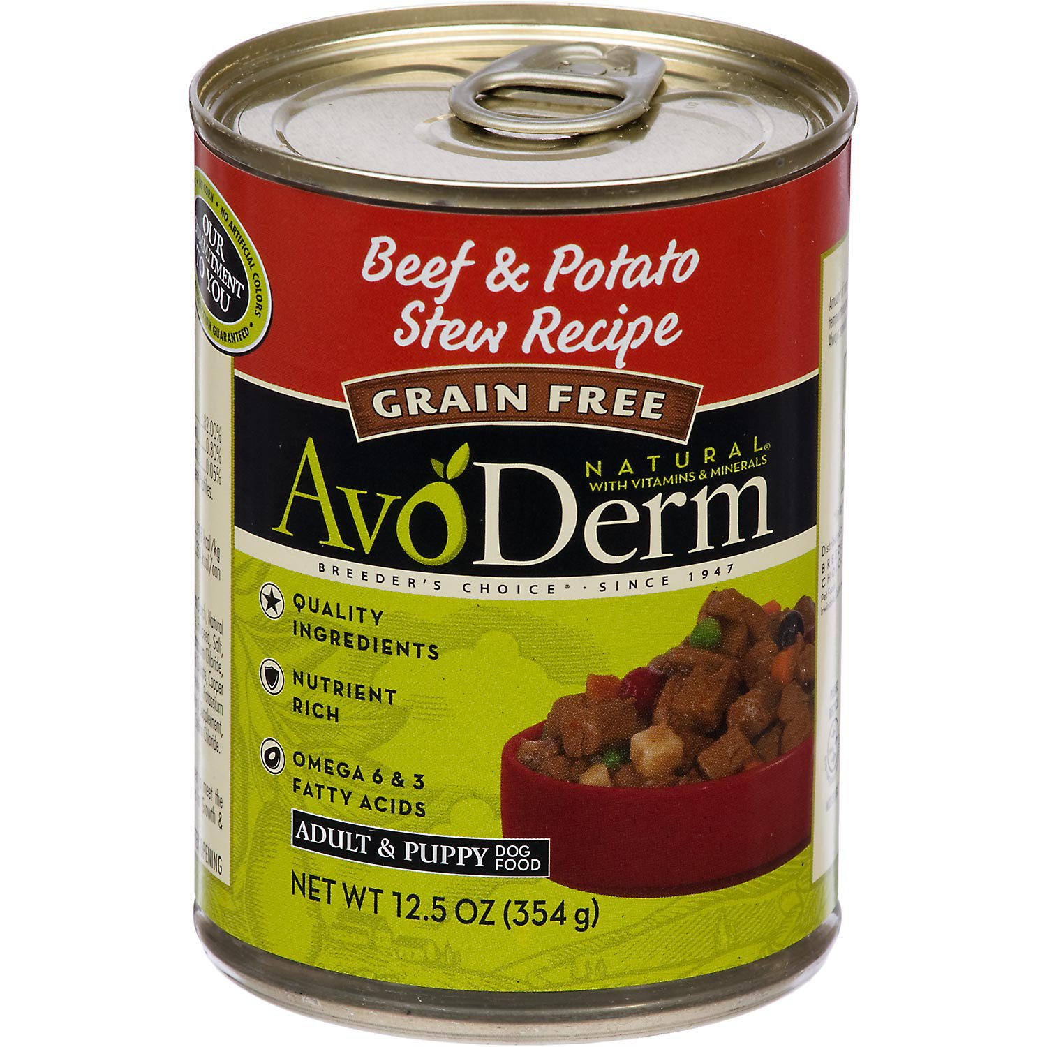 AvoDerm Grain Free Beef & Potato Stew Recipe Canned Dog Food