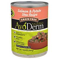 AvoDerm Grain Free Salmon & Potato Stew Recipe Canned Dog Food