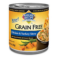 Nature's Recipe Grain Free Chicken & Turkey Stew Canned Dog Food