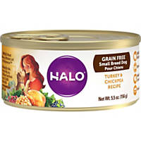 Halo Spot's Choice Grain Free Shredded Turkey & Chickpea Canned Dog Food