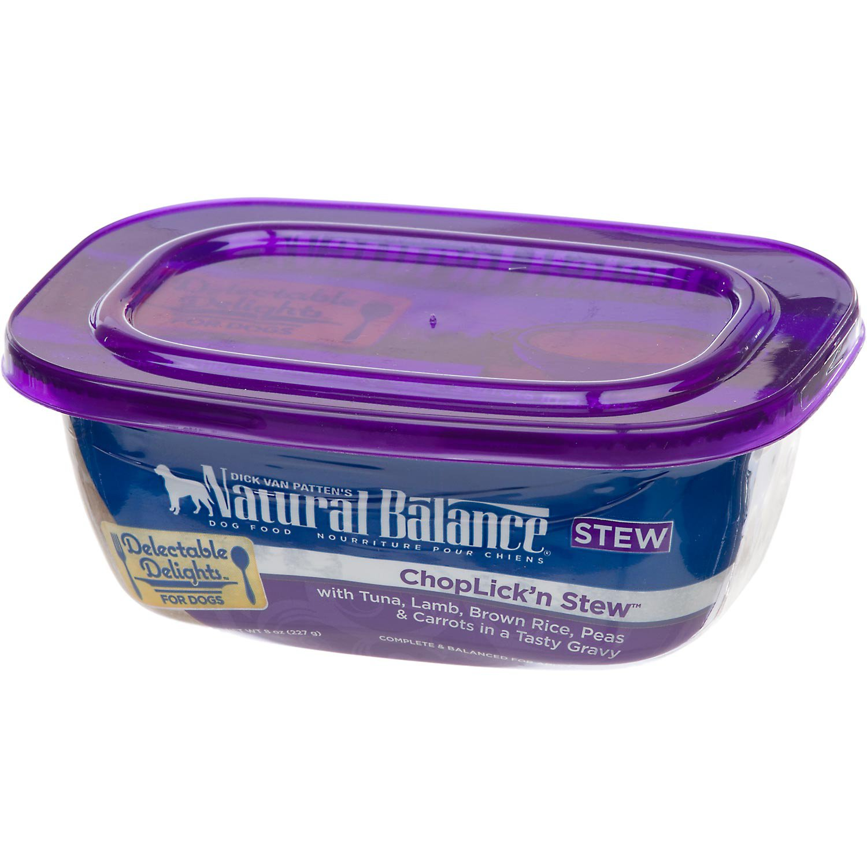 Natural Balance Delectable Delights ChopLickn Stew Formula Adult Dog Food