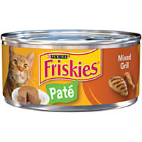 Friskies Classic Pate Canned Cat Food, Mixed Grill