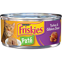 Friskies Classic Pate Canned Cat Food, Turkey & Giblets