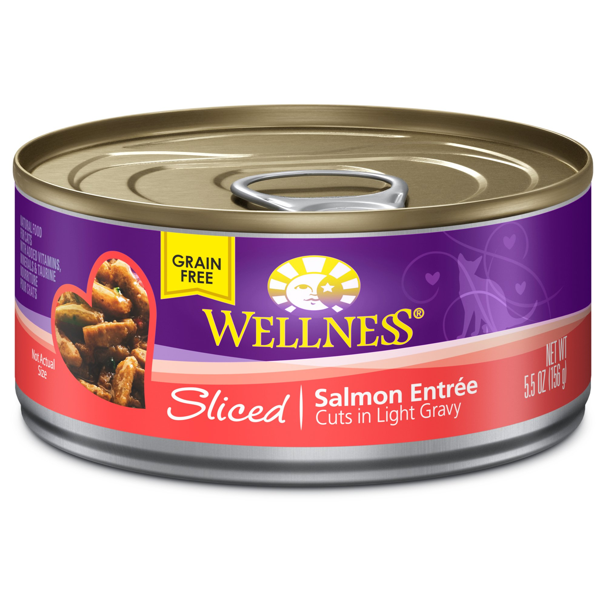 Wellness Sliced Cuts Adult Canned Cat Food, Salmon