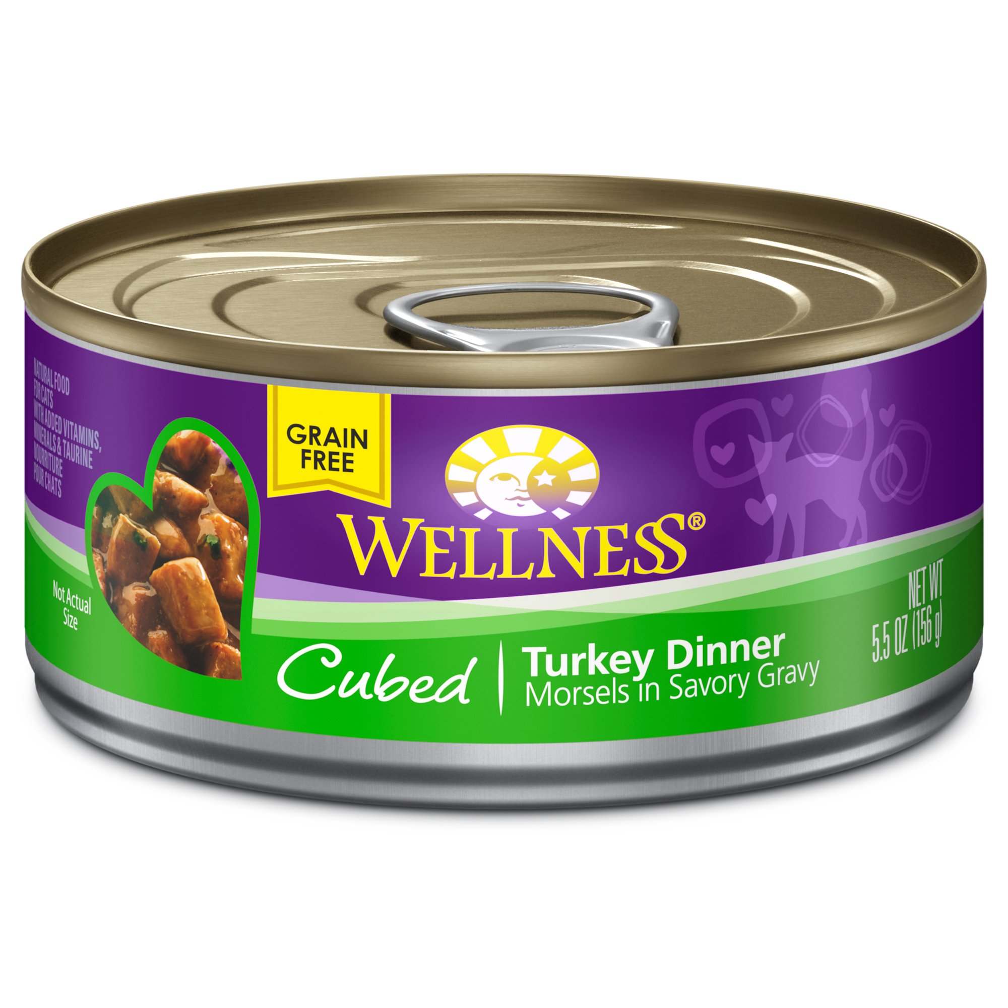 Wellness Cubed Canned Cuts Turkey Adult Canned Cat Food