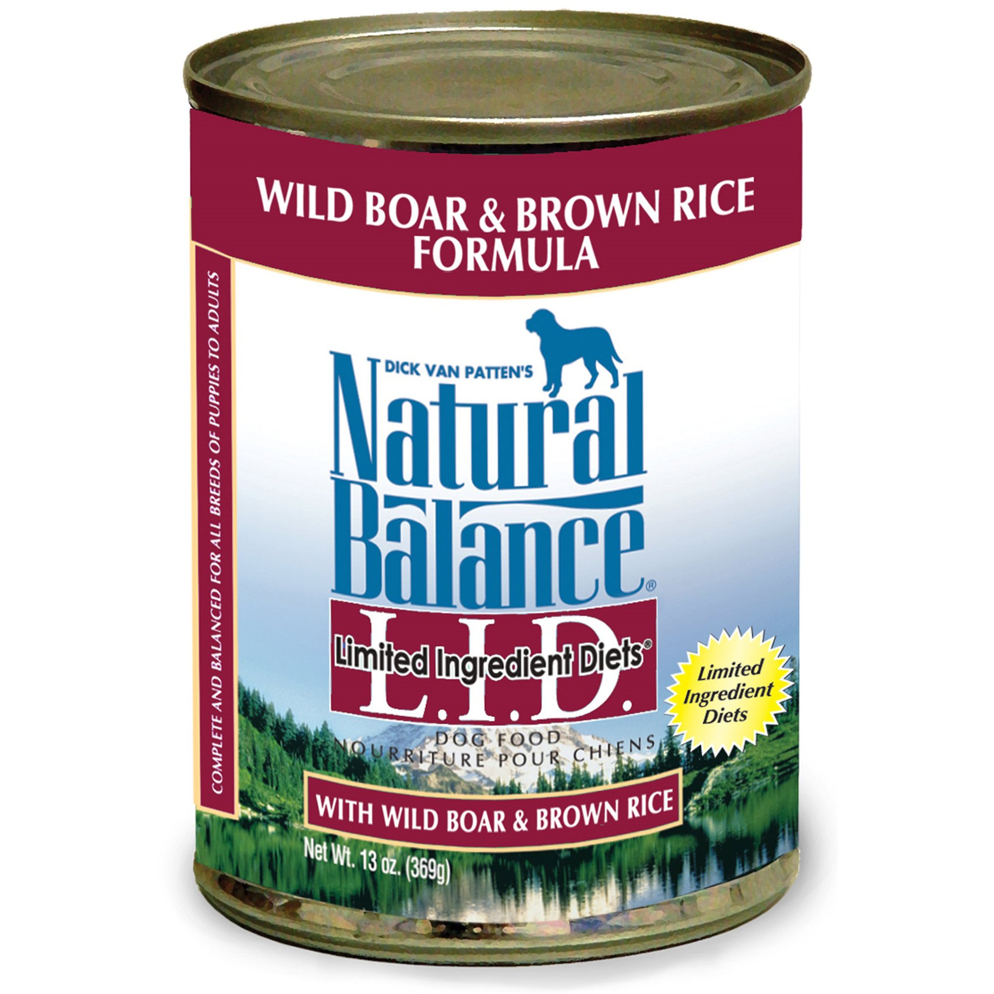 Natural Balance Limited Ingredient Diets Wild Boar & Brown Rice Formula Canned Dog Food