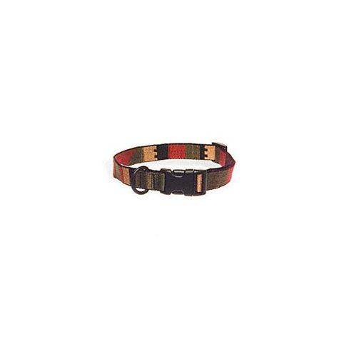 Bison Pet Rasta Adjustable Nylon Dog Collars