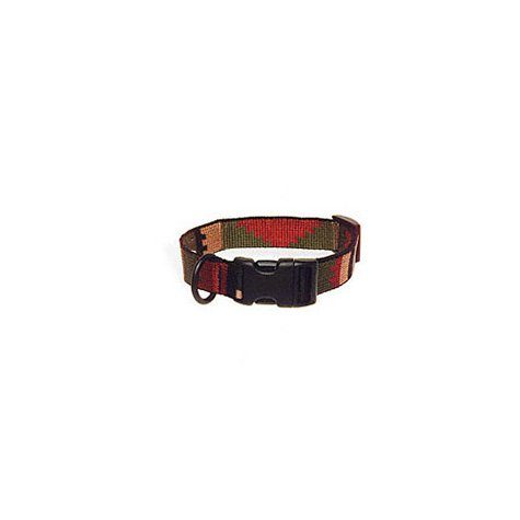 "Bison Pet 1"" Rasta Adjustable Nylon Dog Collar, 15-24"" L"