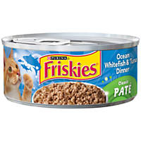 Friskies Ocean Whitefish & Tuna Canned Cat Food