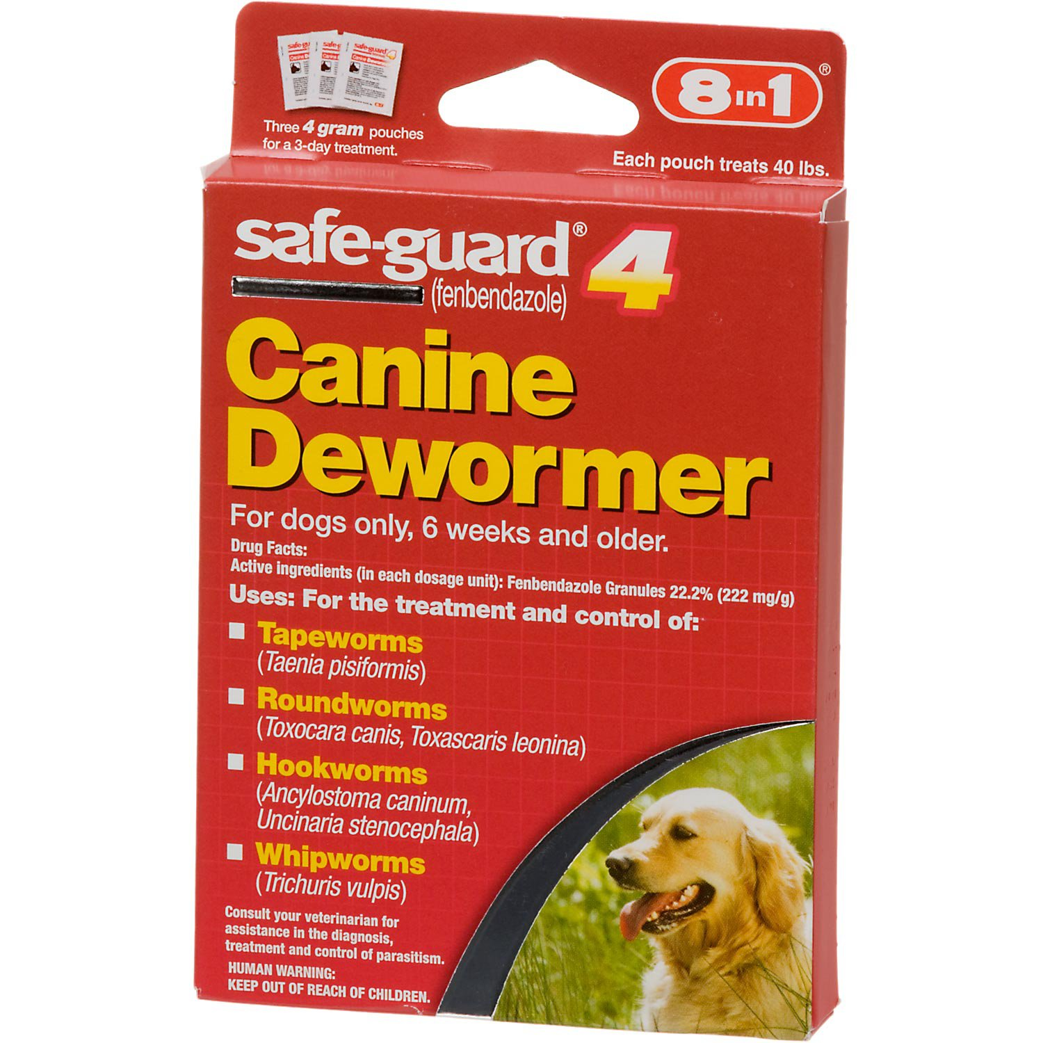 8 in 1 safe-guard 4 Canine Dewormer